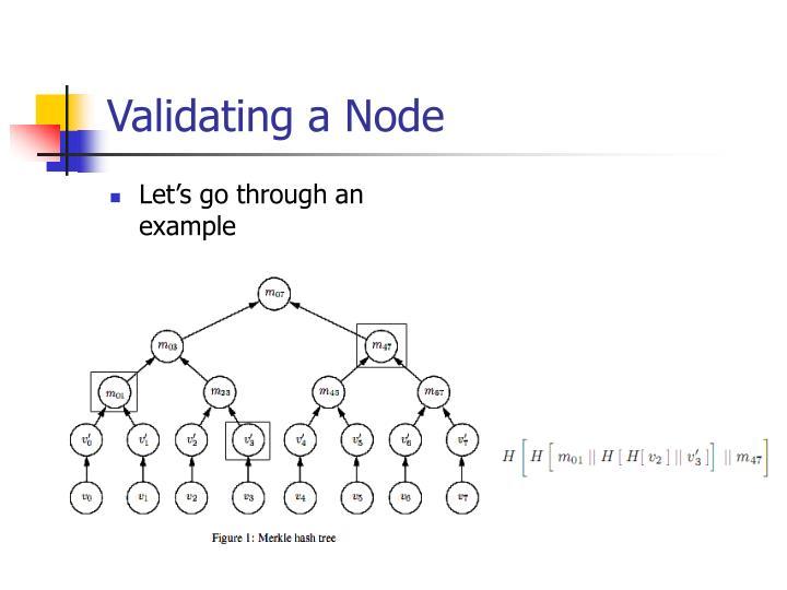 Validating a Node