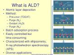 what is ald
