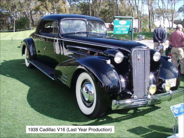 1938 Cadillac V16 (Last Year Production)