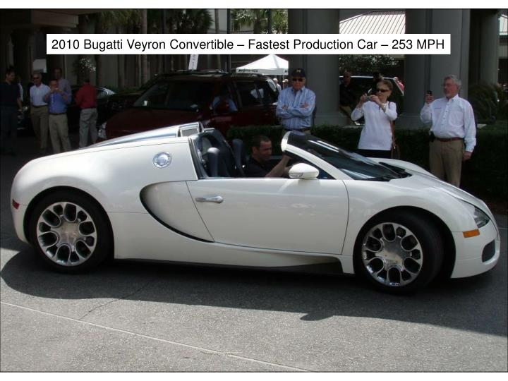 2010 Bugatti Veyron Convertible – Fastest Production Car – 253 MPH
