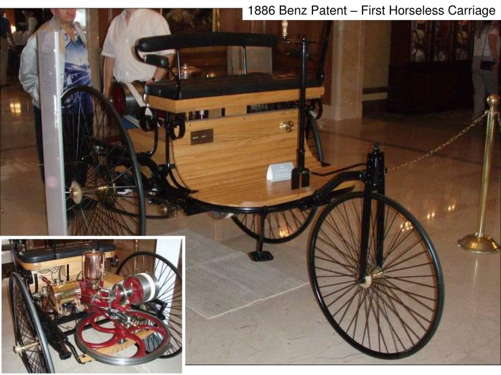 1886 Benz Patent – First Horseless Carriage