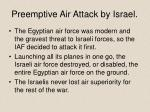 preemptive air attack by israel