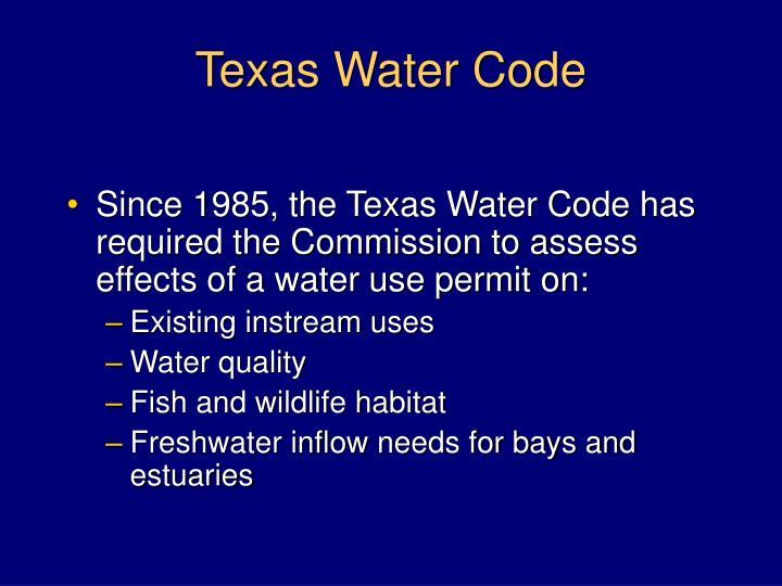 Texas water code