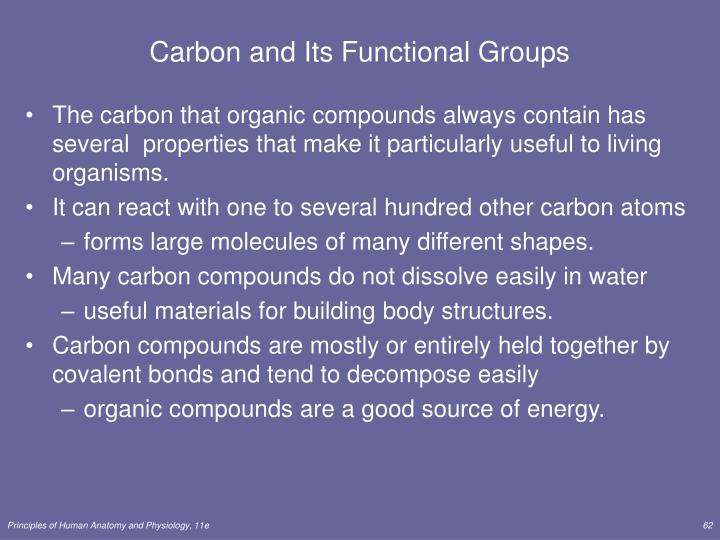 Carbon and Its Functional Groups