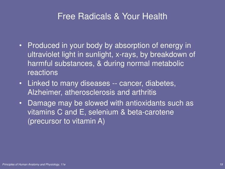 Free Radicals & Your Health