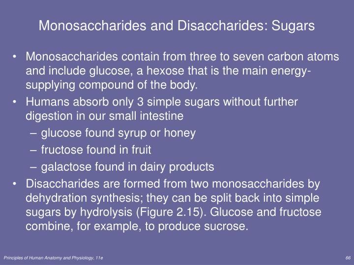 Monosaccharides and Disaccharides: Sugars