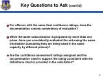 key questions to ask cont d1
