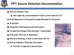 ppt source selection documentation