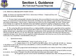 section l guidance no technical proposal required