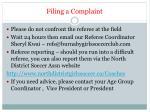 filing a complaint