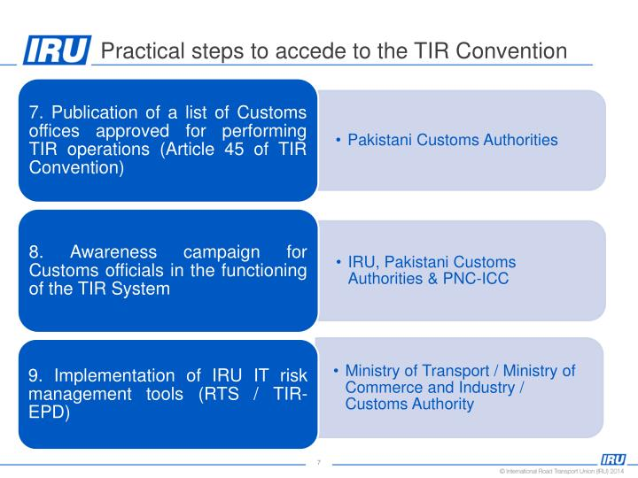 Practical steps to accede to the TIR Convention