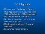 j 1 eligibility