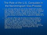 the role of the u s consulate in the nonimmigrant visa process