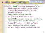 4 2 major issues hdtv 5