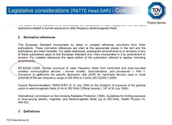 Legislative considerations (