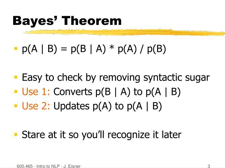Bayes theorem1