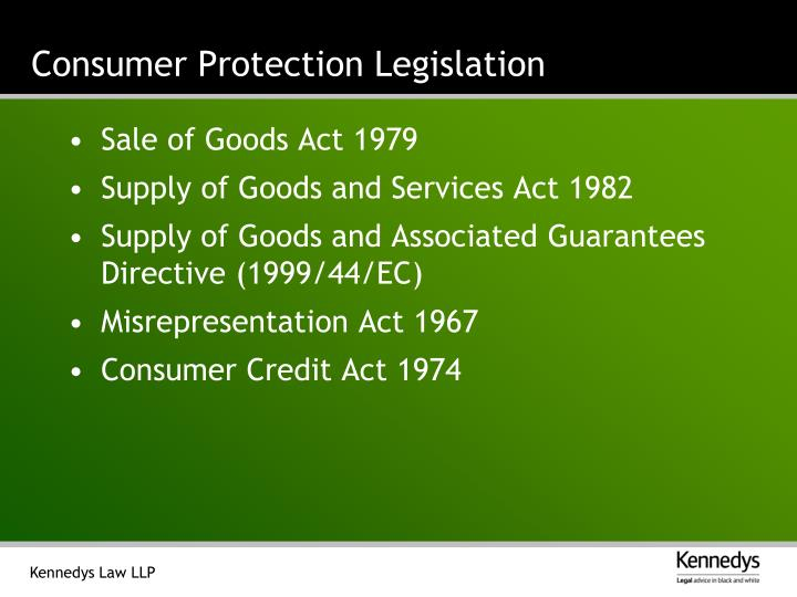 Consumer Protection Legislation
