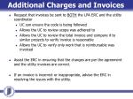 additional charges and invoices1