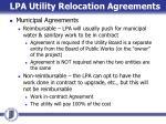 lpa utility relocation agreements1