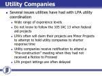 utility companies