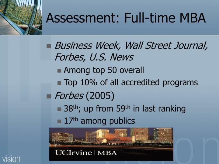 Assessment: Full-time MBA