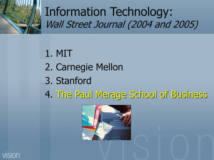 Information Technology:
