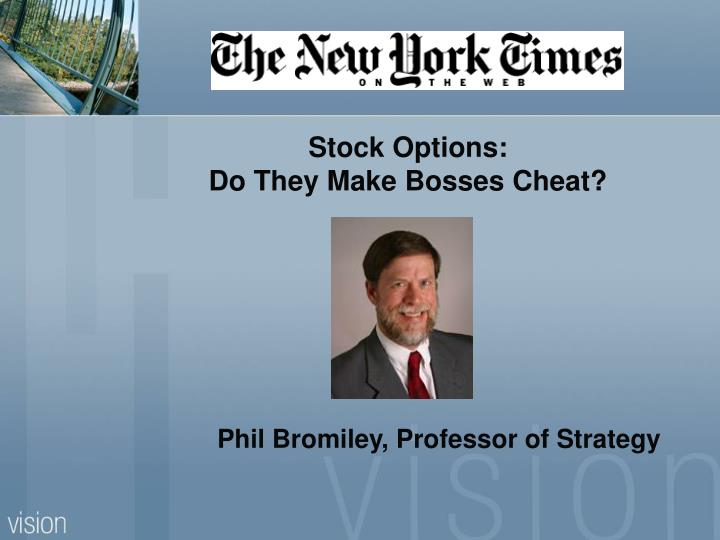 Phil Bromiley, Professor of Strategy