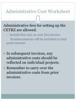 administrative cost worksheet