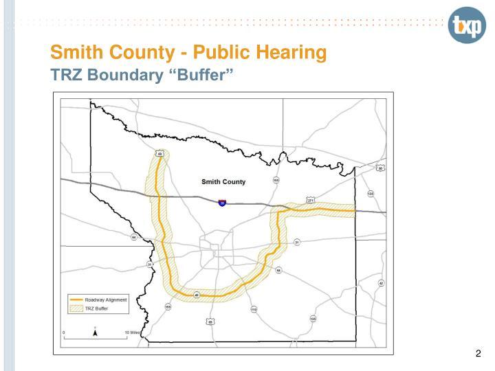 Smith county public hearing1