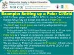 example setting up a polar ci grid