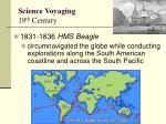 science voyaging 19 th century