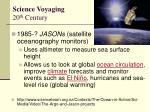 science voyaging 20 th century5