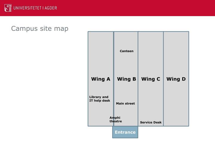 Campus site map