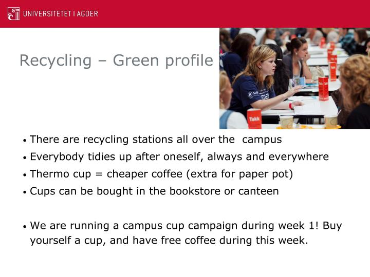 Recycling – Green profile