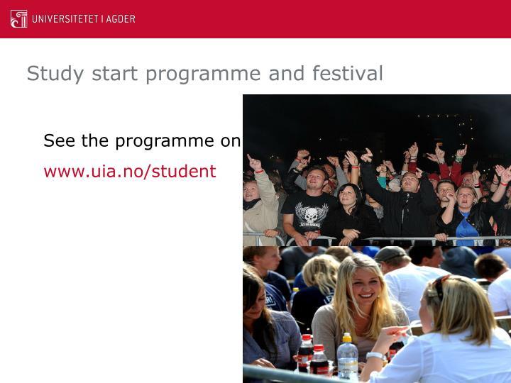 Study start programme and festival
