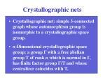 crystallographic nets
