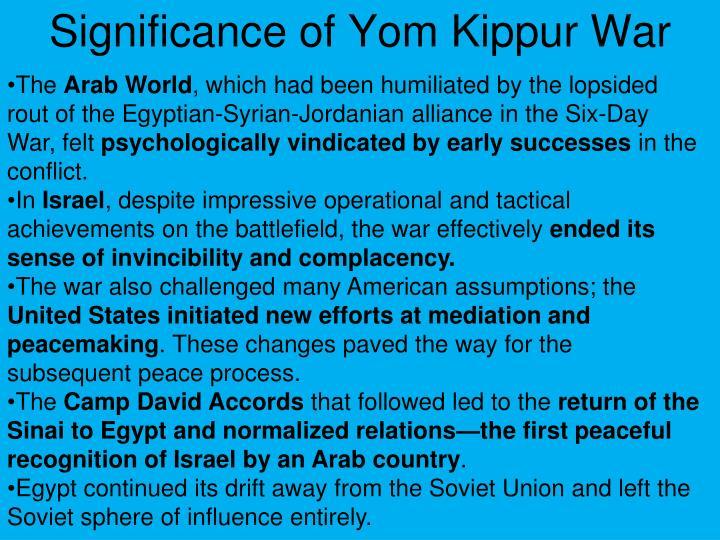 Significance of Yom Kippur War