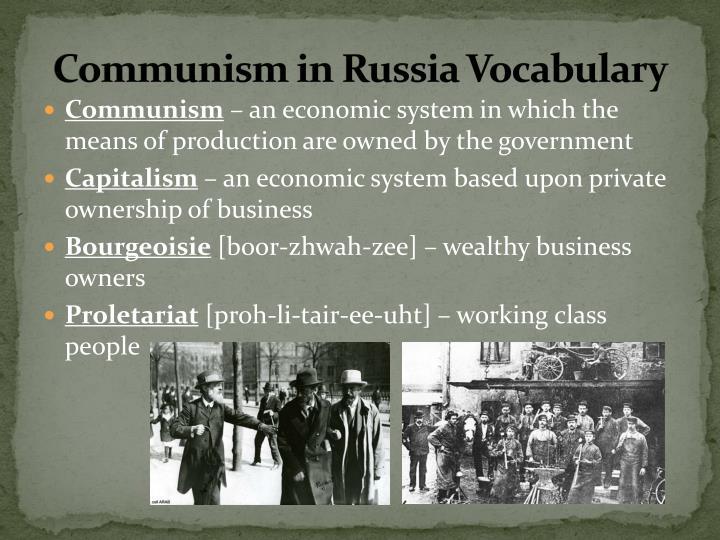 Communism in russia vocabulary
