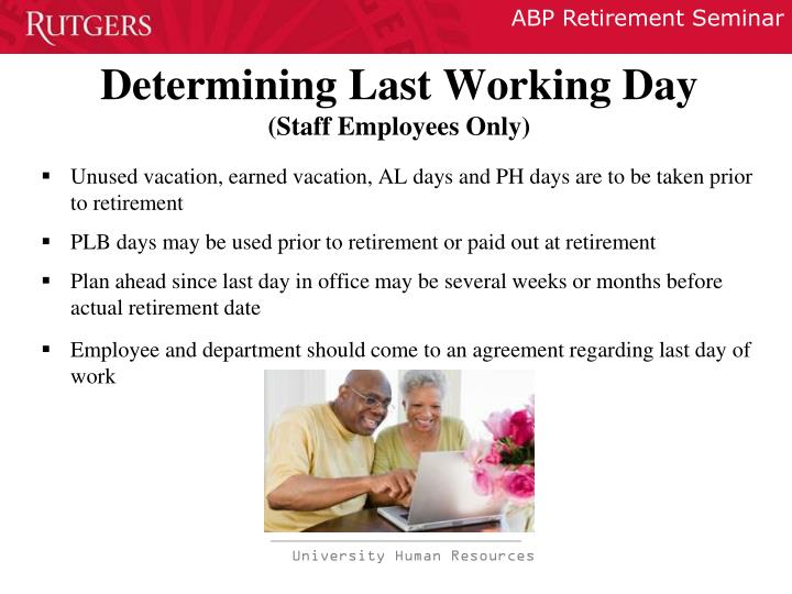 Determining Last Working Day