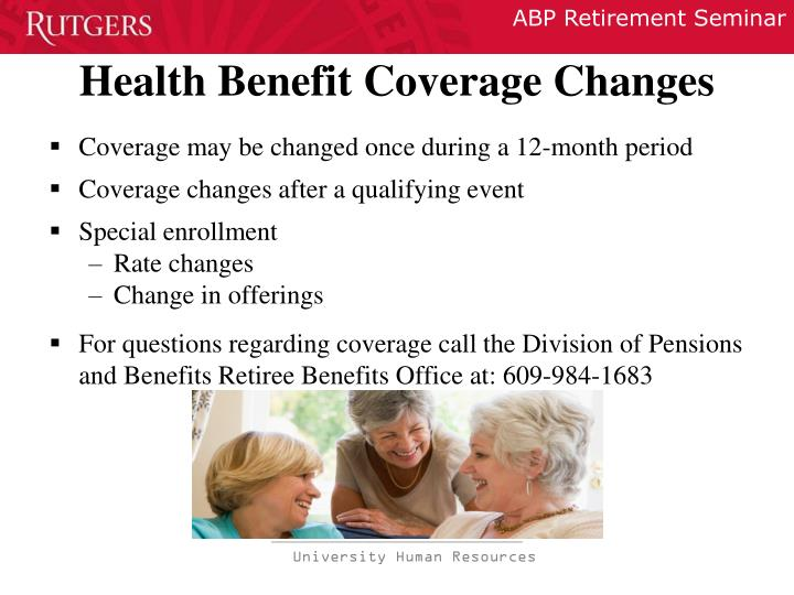 Health Benefit Coverage Changes