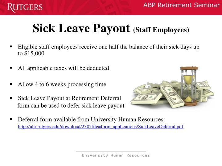 Sick Leave Payout