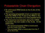 polypeptide chain elongation