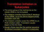 translation initiation in eukaryotes