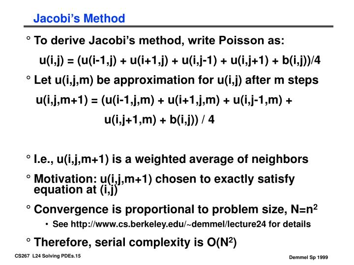 Jacobi's Method