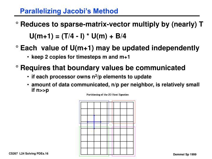 Parallelizing Jacobi's Method