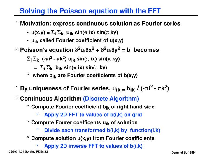 Solving the Poisson equation with the FFT
