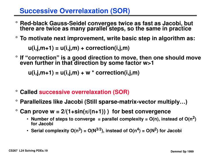 Successive Overrelaxation (SOR)