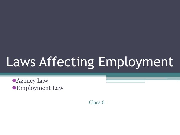 laws affecting employment