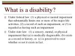 what is a disability