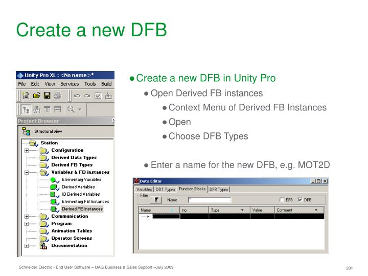 Create a new DFB